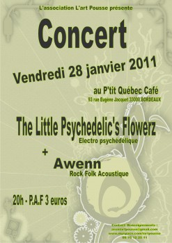 The Little Psychedelic's Flowerz + Awenn - L'Art Pousse
