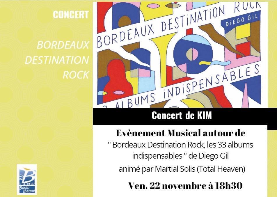 """Concert """"Bordeaux destination rock"""" à la bibliothèque de Bègles - Muzzart"""